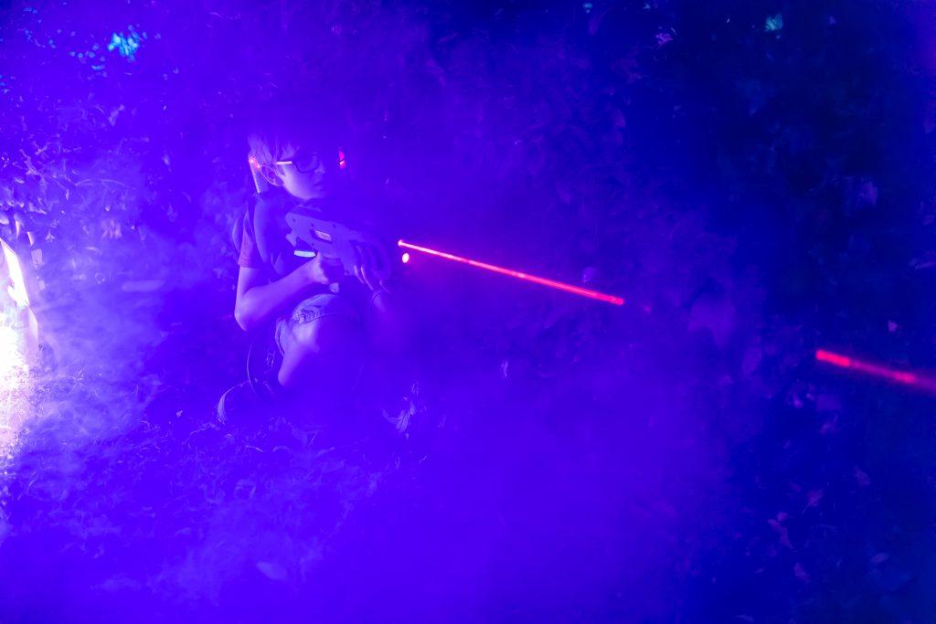 Laser Game au parc de Blossac, Poitiers