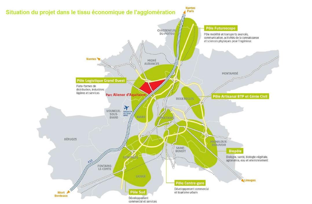 Le parc d'activités Aliénor d'Aquitaine