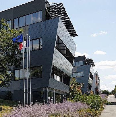 Les zones d'activité et le Palais des congrès du Futuroscope
